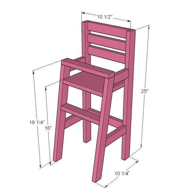 fabriquer chaise haute bébé